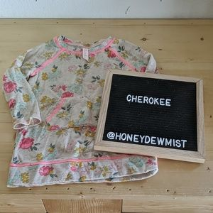 CHEROKEE Floral Sweater with Pockets